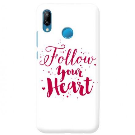 Etui na telefon HUAWEI P30 LITE FOLLOW YOUR HEART