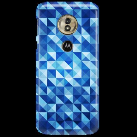 Etui na telefon MOTOROLA MOTO G6 PLAY BLUE GEOMETRIC
