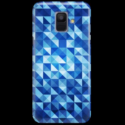 Etui na telefon SAMSUNG GALAXY A6 2018 BLUE GEOMETRIC