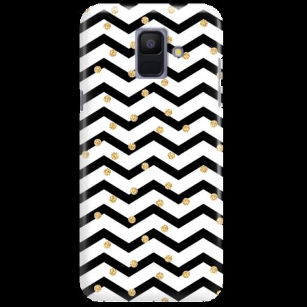 Etui na telefon SAMSUNG GALAXY A6 2018 GOLD BLACK WHITE