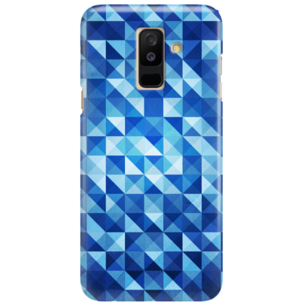 Etui na telefon SAMSUNG GALAXY A6 PLUS 2018 BLUE GEOMETRIC