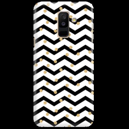 Etui na telefon SAMSUNG GALAXY A6 PLUS 2018 GOLD BLACK WHITE