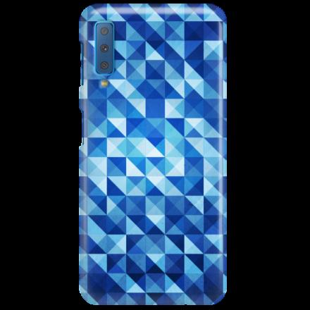 Etui na telefon SAMSUNG GALAXY A7 2018 BLUE GEOMETRIC