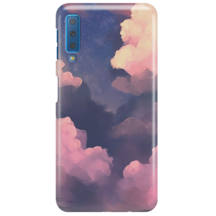 Etui na telefon SAMSUNG GALAXY A7 2018 CLOUDS