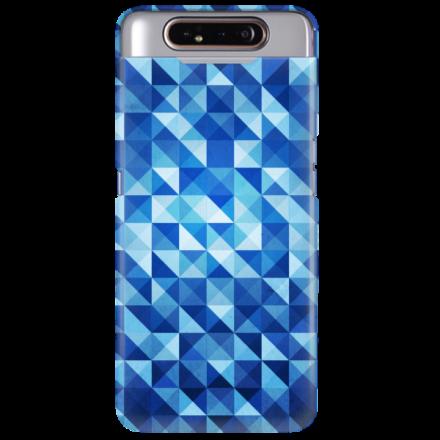 Etui na telefon SAMSUNG GALAXY A80 BLUE GEOMETRIC