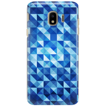 Etui na telefon SAMSUNG GALAXY J4 PLUS 2018 BLUE GEOMETRIC