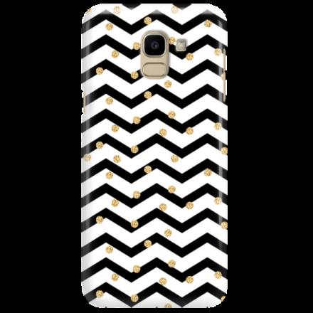 Etui na telefon SAMSUNG GALAXY J6 2018 GOLD BLACK WHITE