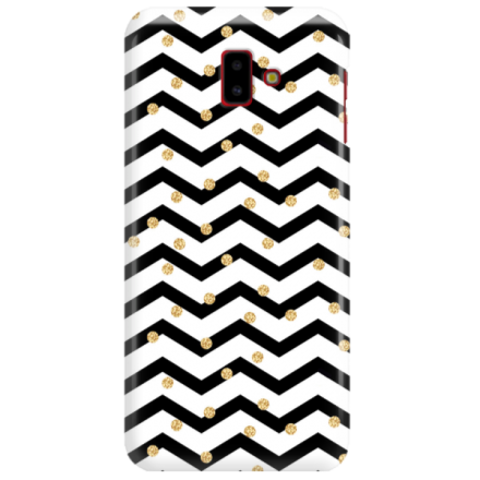Etui na telefon SAMSUNG GALAXY J6 PLUS 2018 GOLD BLACK WHITE