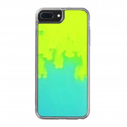 ETUI LIQUID NEON NA TELEFON IPHONE 7 PLUS ZIELONY