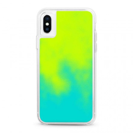 ETUI LIQUID NEON NA TELEFON IPHONE X/XS ZIELONY