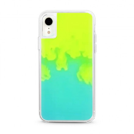 ETUI LIQUID NEON NA TELEFON IPHONE XR ZIELONY