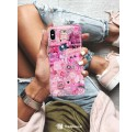 ETUI CLEAR NA TELEFON APPLE IPHONE X / XS ALL PINK