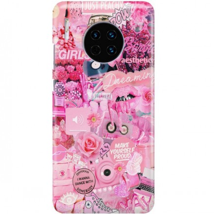 ETUI CLEAR NA TELEFON HUAWEI MATE 30 ALL PINK