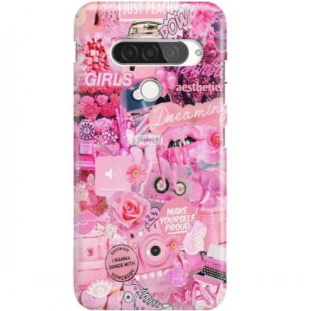ETUI CLEAR NA TELEFON LG G8S / G8S THINQ ALL PINK