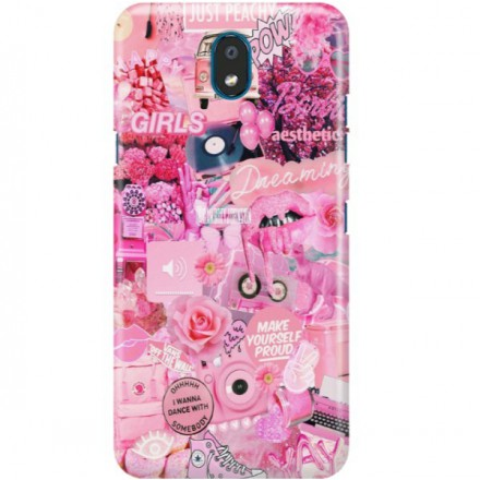 ETUI CLEAR NA TELEFON LG K30 2019 ALL PINK