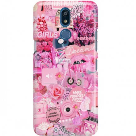 ETUI CLEAR NA TELEFON LG K40 ALL PINK