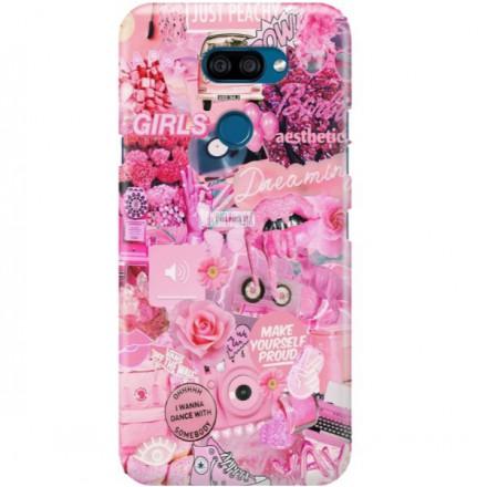 ETUI CLEAR NA TELEFON LG K40S ALL PINK