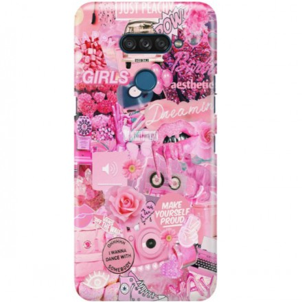 ETUI CLEAR NA TELEFON LG K50S ALL PINK