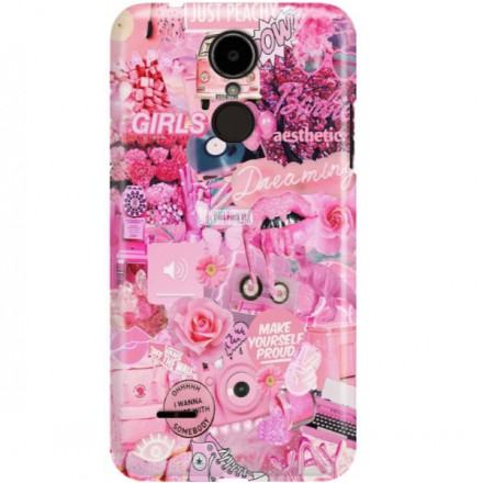 ETUI CLEAR NA TELEFON LG K8 2017 ALL PINK