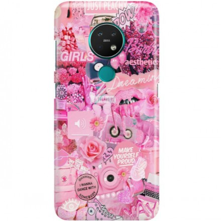 ETUI CLEAR NA TELEFON NOKIA 6.2 / 7.2 ALL PINK