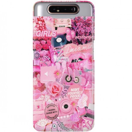 ETUI CLEAR NA TELEFON SAMSUNG GALAXY A90 ALL PINK