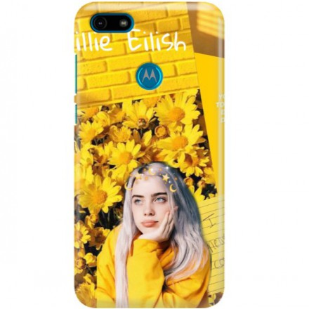 ETUI CLEAR NA TELEFON MOTOROLA MOTO E6 PLAY BILLIE EILISH 1