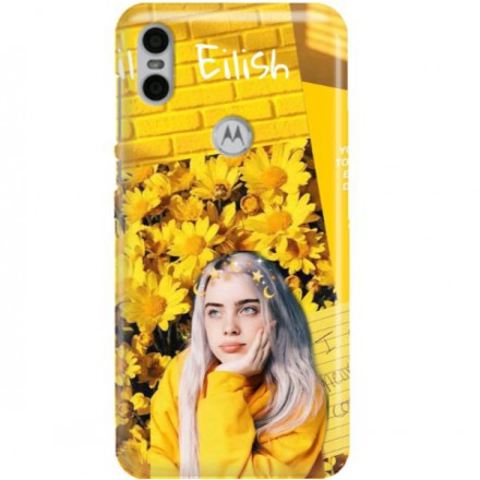 ETUI CLEAR NA TELEFON MOTOROLA MOTO ONE BILLIE EILISH 1