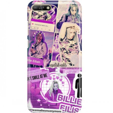ETUI CLEAR NA TELEFON HUAWEI Y6 2019 BILLIE EILISH 2