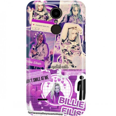 ETUI CLEAR NA TELEFON LG K8 2017 BILLIE EILISH 2