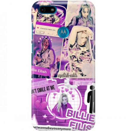 ETUI CLEAR NA TELEFON MOTOROLA MOTO E6 PLAY BILLIE EILISH 2