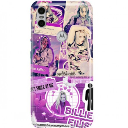 ETUI CLEAR NA TELEFON MOTOROLA MOTO ONE BILLIE EILISH 2