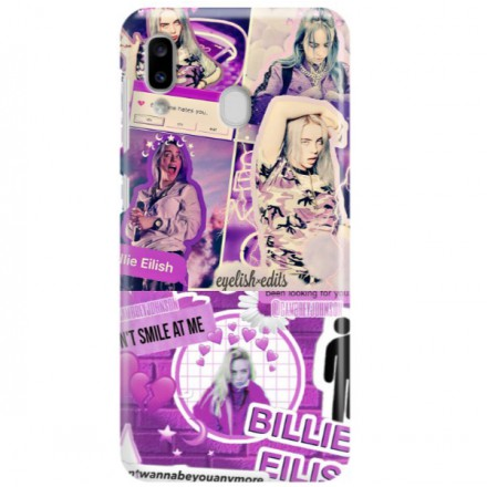 ETUI CLEAR NA TELEFON SAMSUNG GALAXY A20 BILLIE EILISH 2