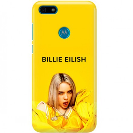 ETUI CLEAR NA TELEFON MOTOROLA MOTO E6 PLAY BILLIE EILISH 3