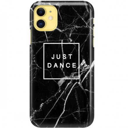 ETUI CLEAR NA TELEFON APPLE IPHONE 11 BLACK MARBLE