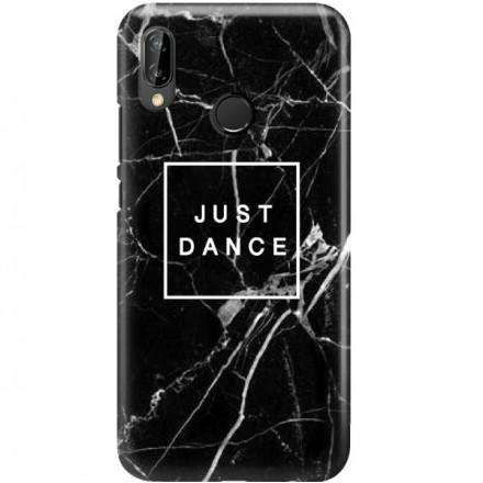 ETUI CLEAR NA TELEFON HUAWEI P20 LITE 2019 / NOVA 5I BLACK MARBLE