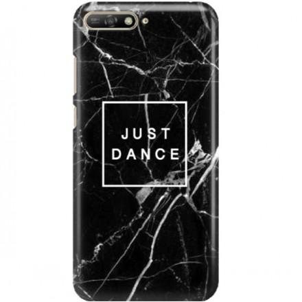 ETUI CLEAR NA TELEFON HUAWEI Y6 2019 BLACK MARBLE