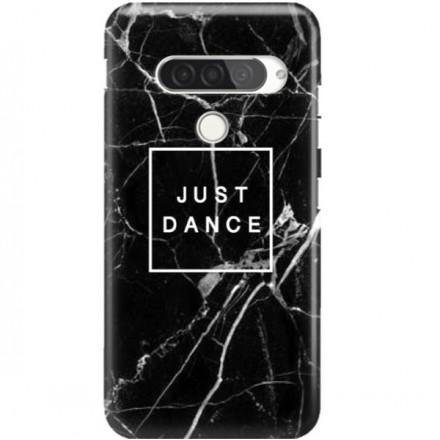 ETUI CLEAR NA TELEFON LG G8S / G8S THINQ BLACK MARBLE