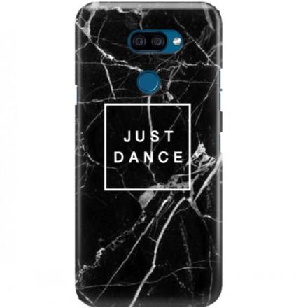 ETUI CLEAR NA TELEFON LG K40S BLACK MARBLE