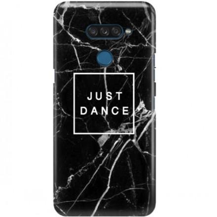 ETUI CLEAR NA TELEFON LG K50S BLACK MARBLE