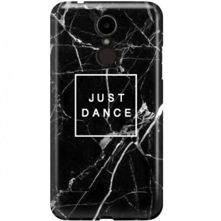 ETUI CLEAR NA TELEFON LG K8 2017 BLACK MARBLE