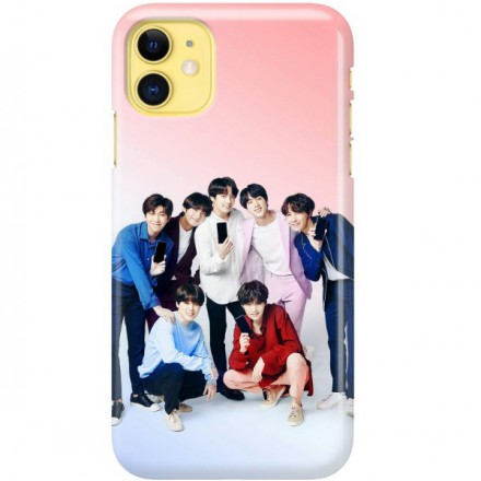 ETUI CLEAR NA TELEFON APPLE IPHONE 11 BTS FAN 1