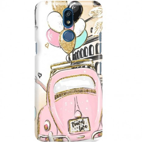ETUI CLEAR NA TELEFON LG K40 CRAZY TRAVEL
