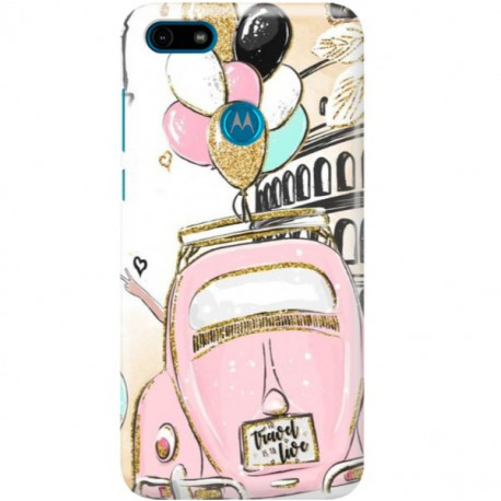 ETUI CLEAR NA TELEFON MOTOROLA MOTO E6 PLAY CRAZY TRAVEL