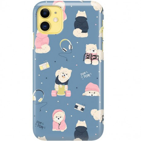 ETUI CLEAR NA TELEFON APPLE IPHONE 11 CUTE DOGS 1