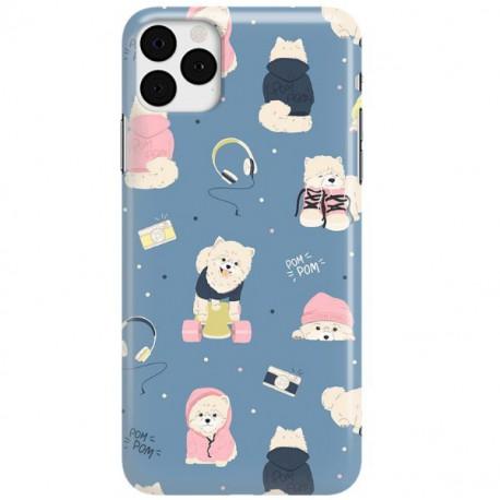 ETUI CLEAR NA TELEFON APPLE IPHONE 11 PRO MAX CUTE DOGS 1