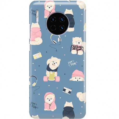 ETUI CLEAR NA TELEFON HUAWEI MATE 30 CUTE DOGS 1