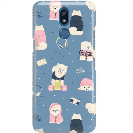 ETUI CLEAR NA TELEFON LG K40 CUTE DOGS 1