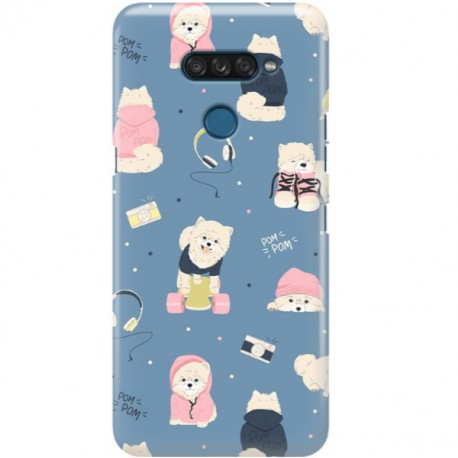 ETUI CLEAR NA TELEFON LG K50S CUTE DOGS 1