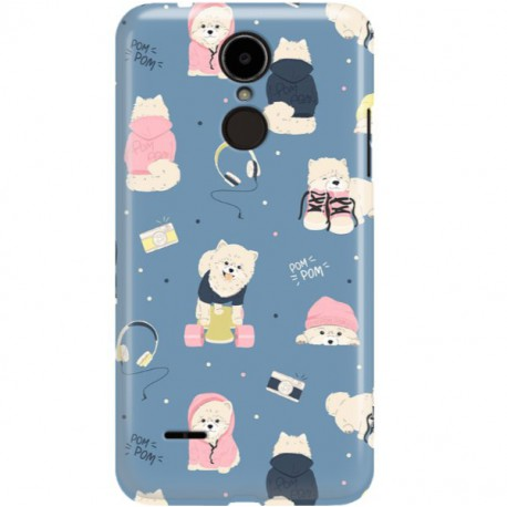 ETUI CLEAR NA TELEFON LG K8 2017 CUTE DOGS 1