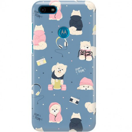 ETUI CLEAR NA TELEFON MOTOROLA MOTO E6 PLAY CUTE DOGS 1